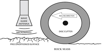 microwave assisted disc cutter